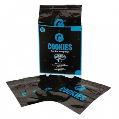 Cookies Odour Free Smell Proof Bags - 4 sizes - Black